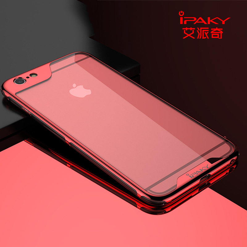 iPaky <font><b>Brand</b></font> For iPhone 6 6s <font><b>Case</b></font> <font><b>Luxury</b></font> Plating PC Frame Transparent Clear Soft Back Cover For iPhone6s 6 Plus <font><b>Phone</b></font> <font><b>Cases</b></font>