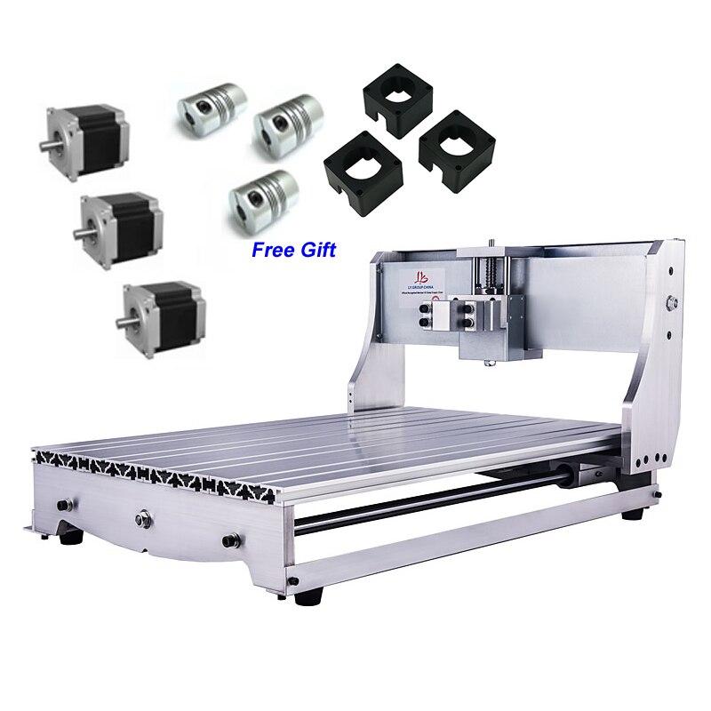 Aluminium Mini CNC zestaw ze szkieletem 6040 3 sztuk NEMA 23 57 silnik krokowy sprzęgło DIY maszyna do grawerowania CNC Router 6040