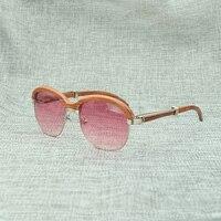 Модная роскошная деревянная оправа солнцезащитные очки Carter для мужчин s солнцезащитные очки Брендовые дизайнерские Элегантные розовые сол
