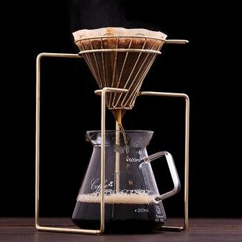 القهوة مرشحات القهوة صانع المنقط هندسية ، قابلة لإعادة الاستخدام صب أكثر القهوة تصفية حامل ، مرشح دائم سلة