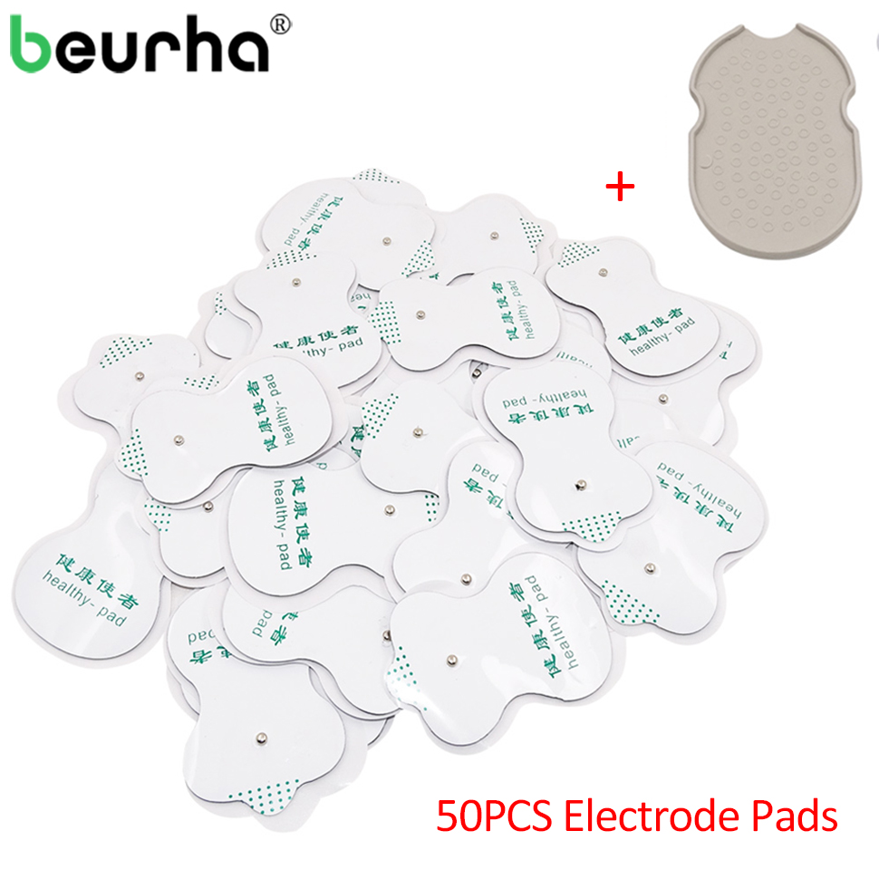 50PCS Electrode Pads Patch For Acupuncture Therapy Machine Body Massager Electrical Muscle Stimulator Slimming Massage Tens Pads 10pcs adsorption paste shuboshi electrode patch apply instrument for acupuncture electrical massage device electrode pads