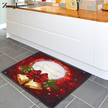 Zeegle Door Mat Christmas Bell Kitchen Mat Bathroom Carpet Home Decor Non-slip Floor Mat Coffee Table Area Rug(China)