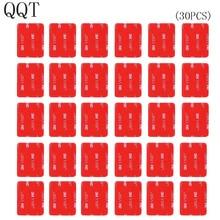 QQT 30 قطعة 3 m الأحمر لاصق ملصق لاصق مزدوج تتأثر ل الذهاب برو بطل 7 6 5 4 3 + ل SJ4000 ل شاومي ل يي