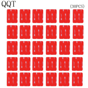 Image 1 - QQT 30 Pcs 3 M אדום דבק מדבקת כפול דבק קלטת מושפע עבור ללכת פרו גיבור 7 6 5 4 3 + עבור SJ4000 לxiaomi עבור יי