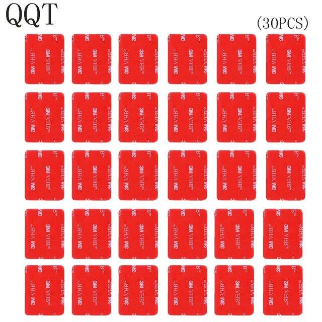 QQT 30 Pcs 3 M אדום דבק מדבקת כפול דבק קלטת מושפע עבור ללכת פרו גיבור 7 6 5 4 3 + עבור SJ4000 לxiaomi עבור יי