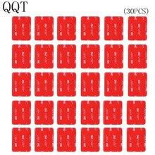 QQT 30 pièces 3 M rouge autocollant adhésif Double ruban adhésif affecté pour Go pro Hero 7 6 5 4 3 + pour SJ4000 pour Xiaomi pour Yi