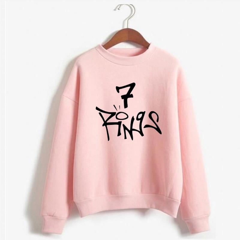 Ariana Grande Seven Rings Sweatshirt Women 7 Rings Sweetener Thank U Next Hoodie Pullover Tops No