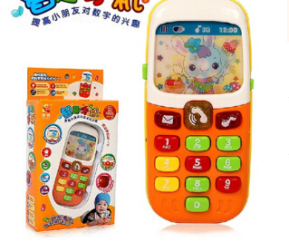 Children 's small mobile phones intellectual music phone toys baby sound and light puzzle mobile phone baby toys