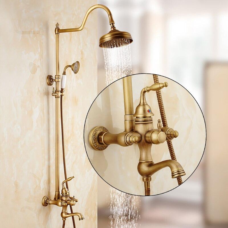 Shower Faucets Brass Wall Mounted Shower Faucet Set Waterfall 3 Ways ...