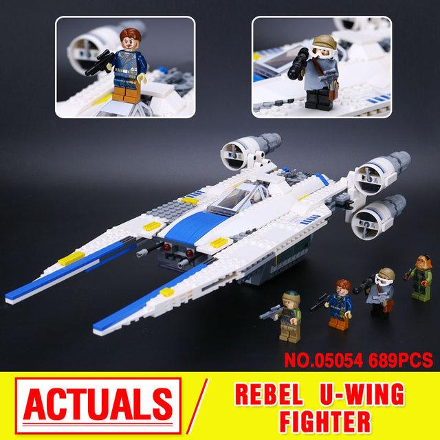 Nuevo 679 unids Lepin 05054 Genuino Serie Star Rebeldes U Conjunto de Bloques de Construcción Ladrillos Juguetes de Combate de Ala 75155
