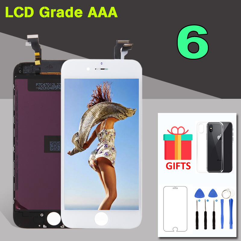 AAA Quality 4.7 Display For iPhone 6 6G LCD Screen Touch Digitizer Assembly Replacement for iPhone 6 Ekran Front Panel Complete image