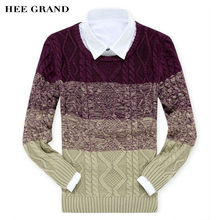 HEE GRAND Men's Sweater 2017 New Arrival Autumn Winter O-Collar Casual Pullovers Masculino M-XXL 4 Colors MZM295