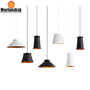 Post-modern Style Aluminum Pendant Light Black/White Attractive Pendant Lamp With E27 Holder Suit For Dining Room Foyer Study фото