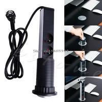 Pop Up Electrical Power Outlet Socket Kitchen Desk Worktop 2 USB & 3 Plugs 1Pc New G08 Drop ship