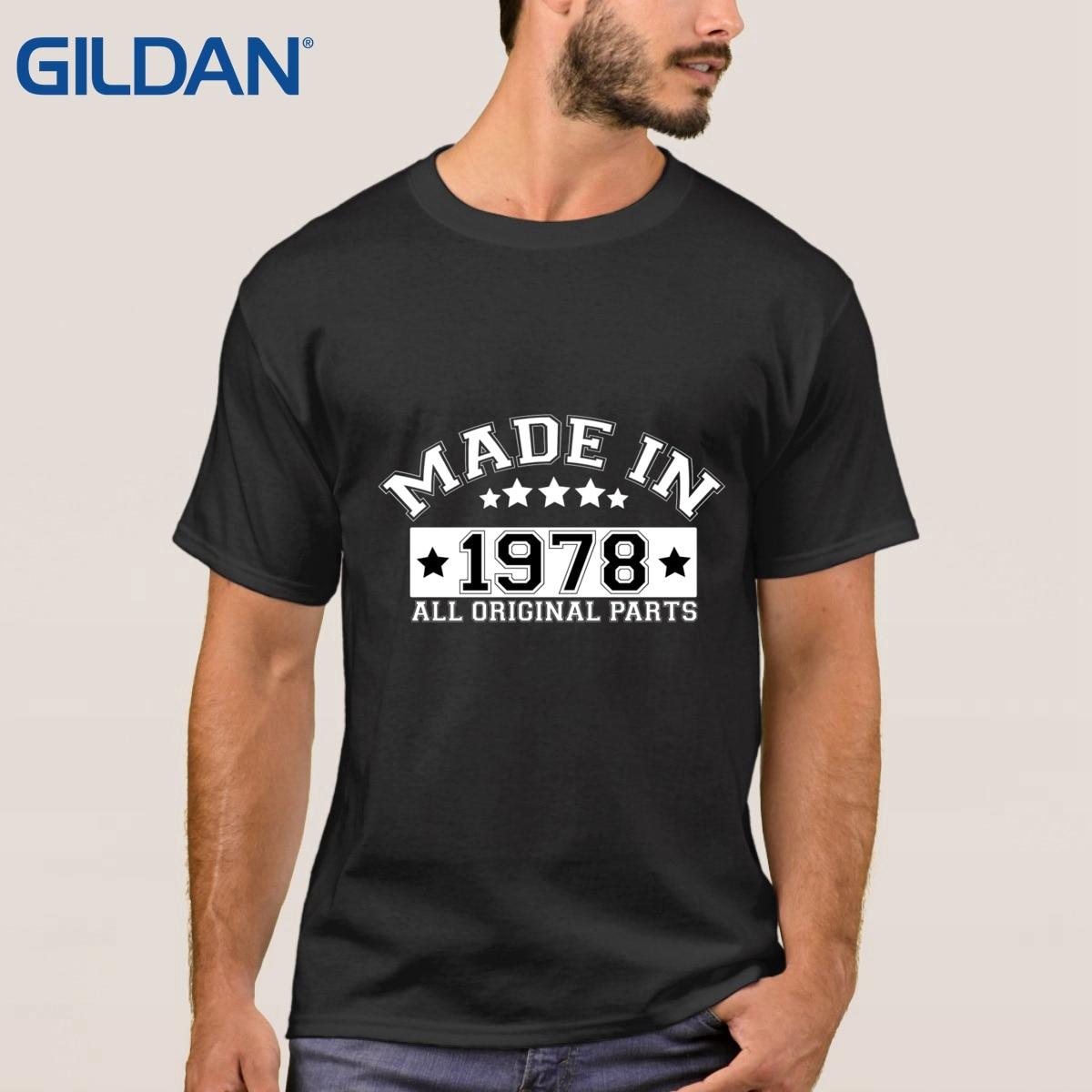 Made In 1978 All Parts Birthday Popular black t shirt men Original tee shirts Round Collar