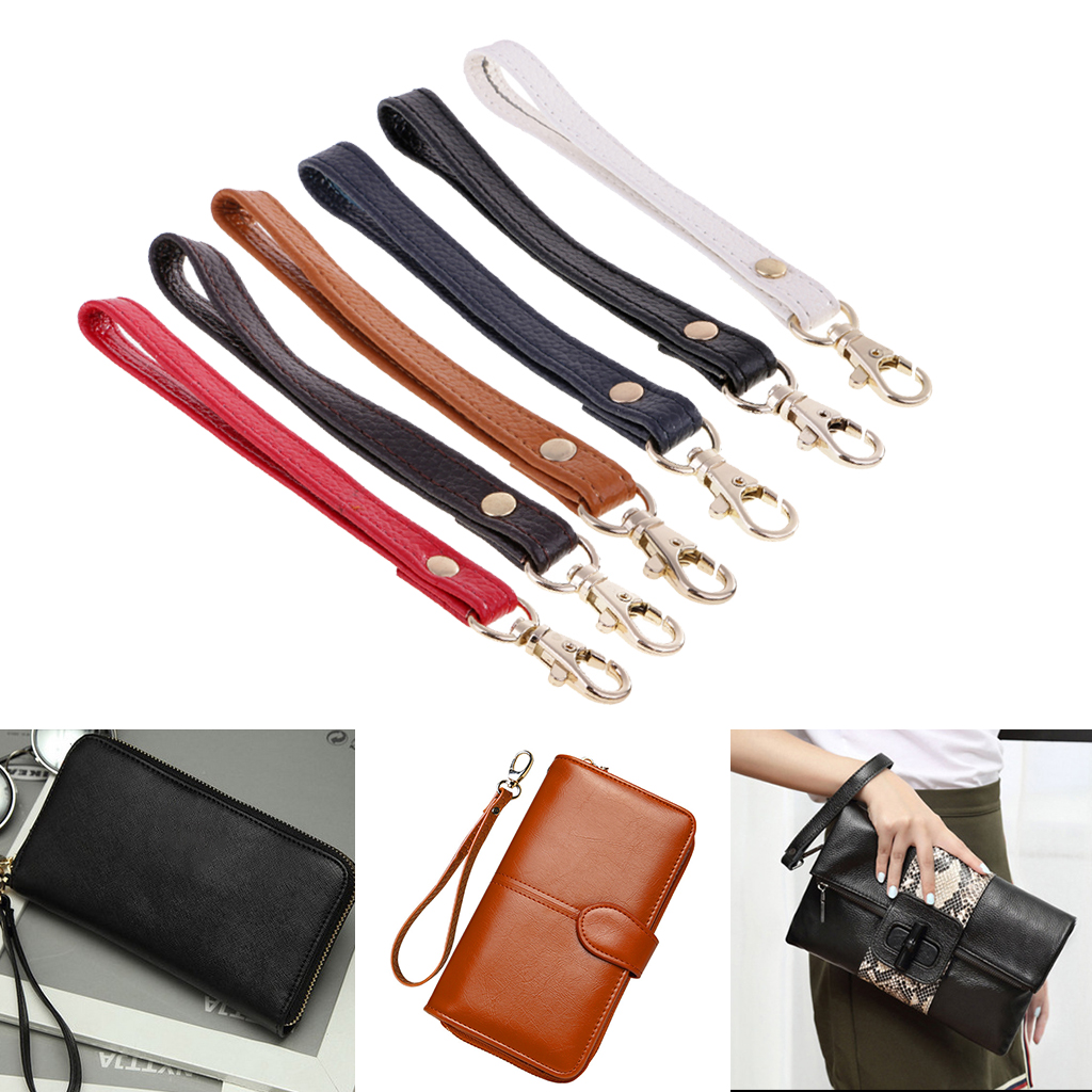Genuine Leather Replacement Wrist Strap Handle For Clutch Wristlet Purse Handbag