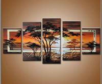 Cuadros Decoracion 5 piece panel canvas art Modern abstract hand painted picture oil painting 42