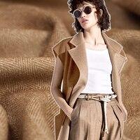 150 см шириной 860 г/м Вес Толстый коричневый шерсть осень зима пальто Верхняя одежда, куртки Ткань e512