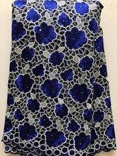 Francuskie koronki tkaniny siateczka 2020 najnowsza koronka afrykańska tkaniny z haftem siateczkowy tiul z koronką wysokiej wysokiej jakości nigeryjski niebieski HLL3340