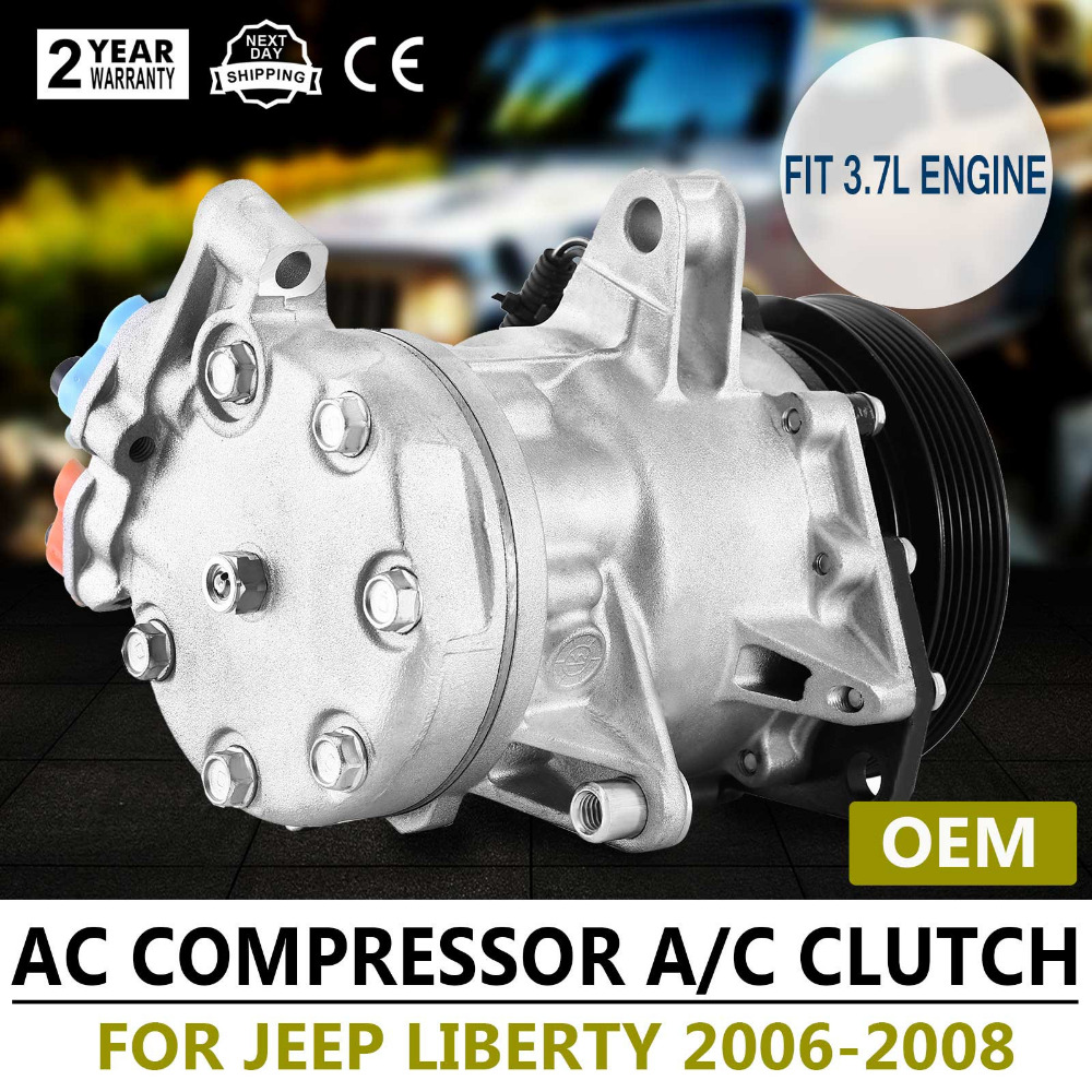 AC A/C Compressor For 2006-2008 Jeep Liberty Dodge Nitro 3.7L OEM Local Shipping loreada throttle body 4861661aa 4861661ab for jeep grand cherokee liberty dodge dakota nitro ram 1500 3 7l 3 8l