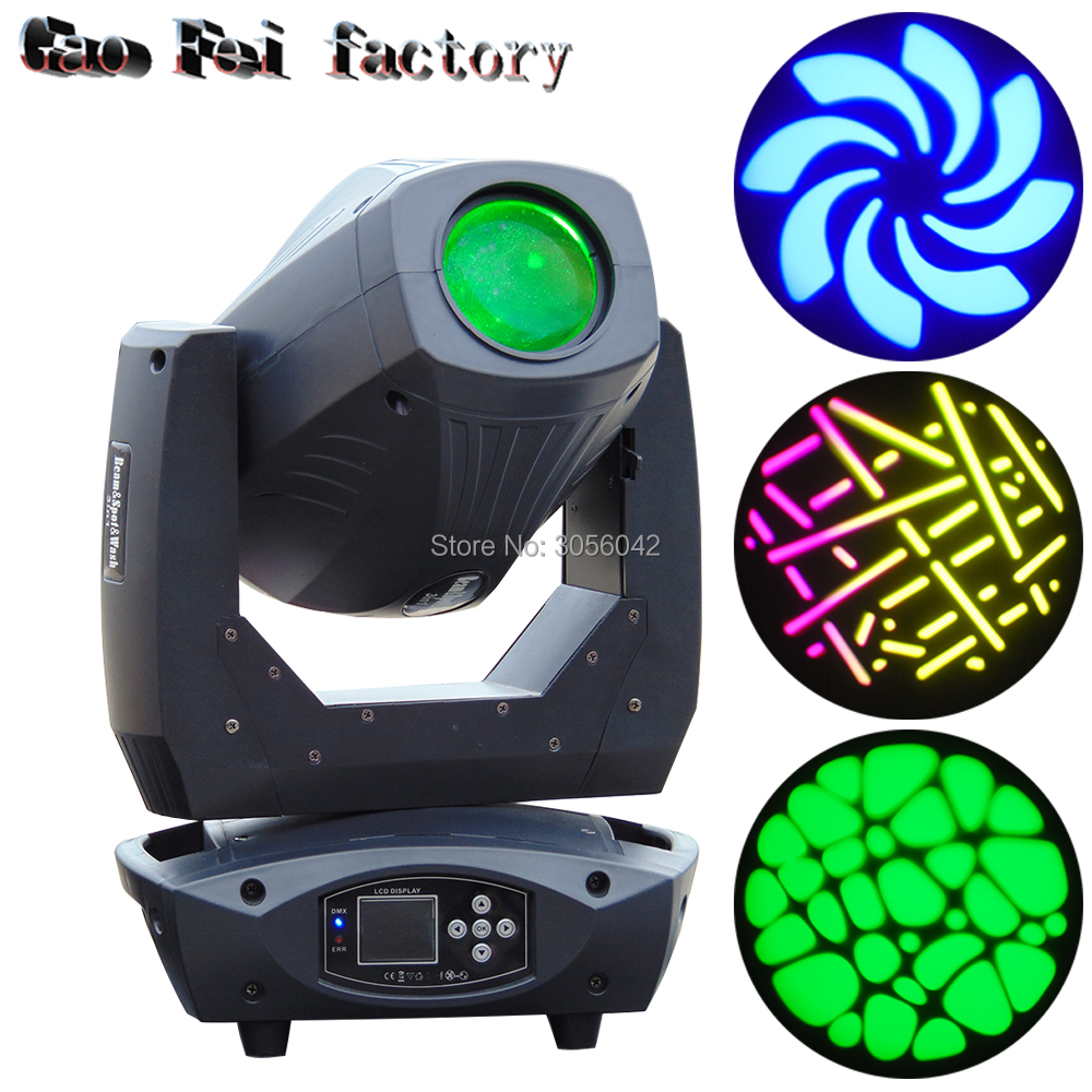 High brightness Super bright 200W moving head beam spot 3 in 1 led gobo stage lighting