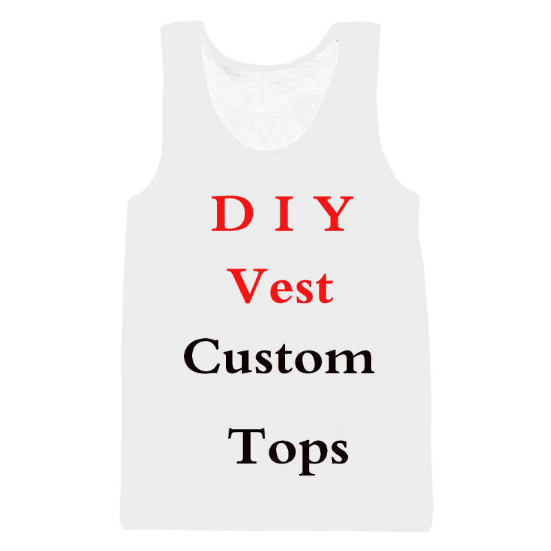 LIASOSO Create Your Own Customer Design Anime/Photo/Star/You Want/Singer Pattern/DIY vest 3D Print Sublimation Vest Y160