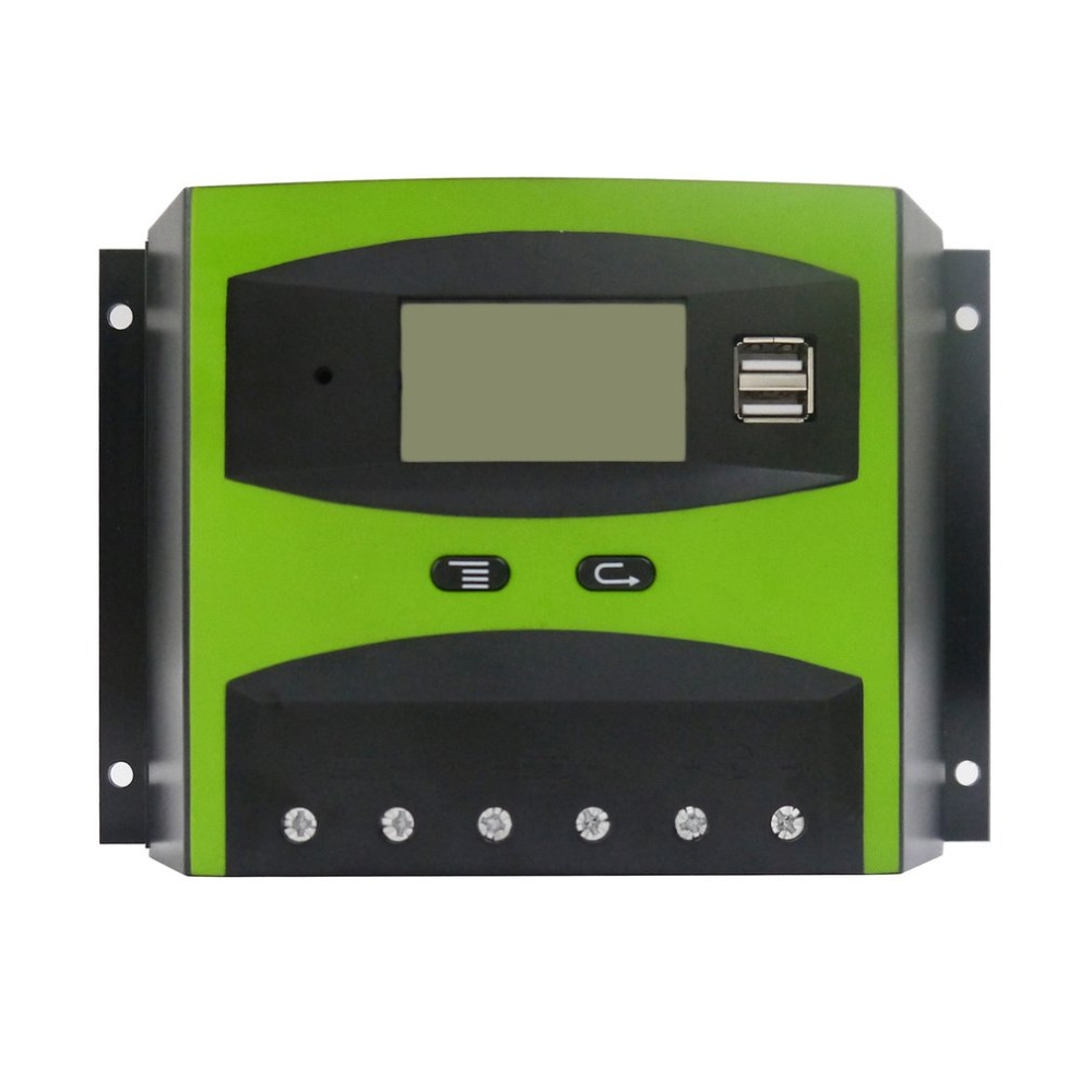 1pcs Solar Charge and Discharge Controller 12V 24V 50A LCD Screen With Auto Temperature Compensation Drop Shipping Sale special offer solar charge controller 20a 12v24v lightning protection and anti charge over discharge