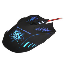 5500DPI LED Optical Professional Game Mouse USB Wired Gaming Mice With 7 LED Color 6 key  Buttons For Computer laptop