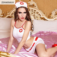 Female Adult Sex Wear Sexy Role Play Costumes Sexy Porn Lingerie Cosplay Sexy Women Nurse Slutty Outfit 4 Pieces Set