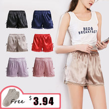 ZOLEEVON Pajamas Shorts Women Sleep Shorts Sexy Lingerie Sil