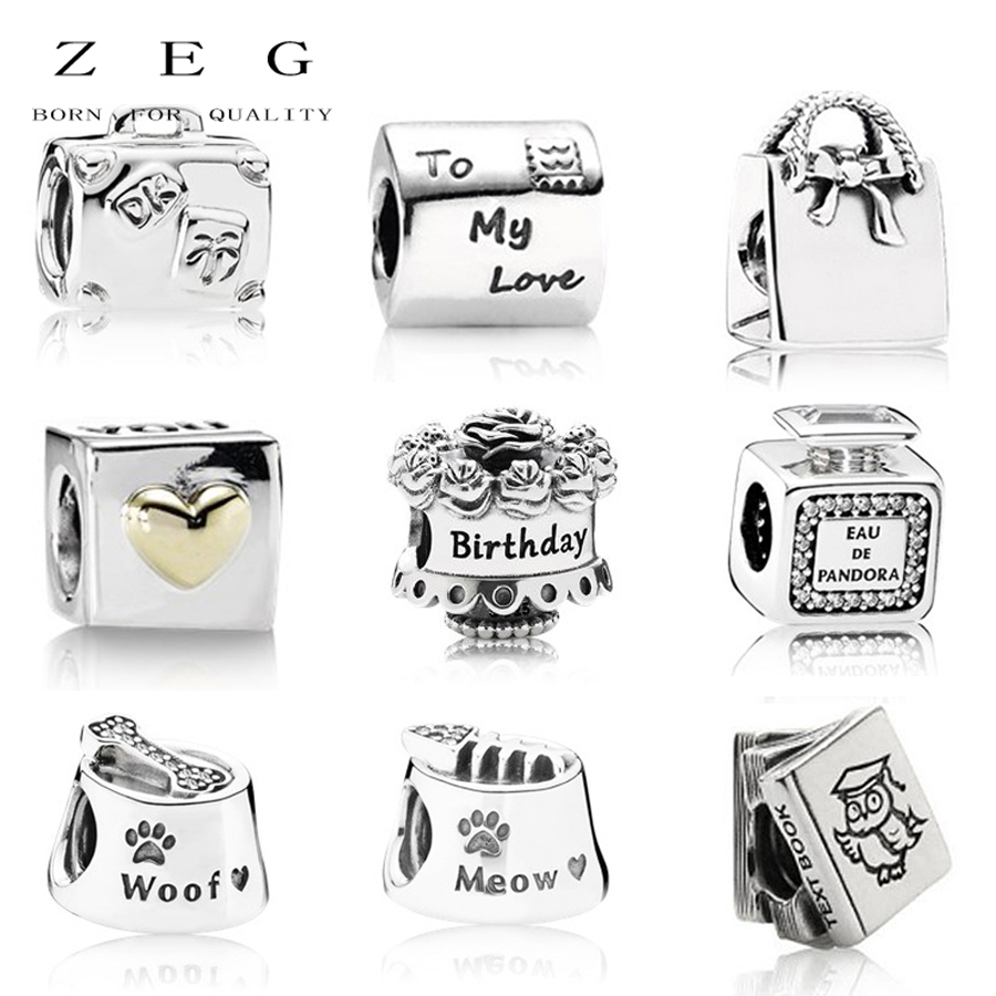 ZEG 2018 Newset 100% 925 Pure Silver Pandoras Box series Charm Women DIY Bracelet Have Logo Factory Wholesale Free Mail
