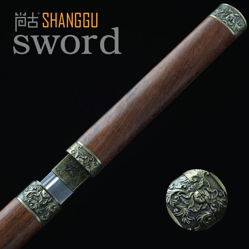 Samuray Qılıncı ilə yüklənmiş 20 düymlük Peony Naxış Tunc, - Ev dekoru - Fotoqrafiya 1