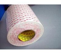Бесплатная доставка 610 мм x 33 м 3 М VHB 4945 D3M VHB 4945 Двусторонняя лента Акриловые пены клей ленты белый