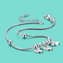 925 tobilleras de plata de ley colgante fantasma especial diseño de las mujeres lady popular joyería 28 cm cadena de pie de Plata regalo de cumpleaños