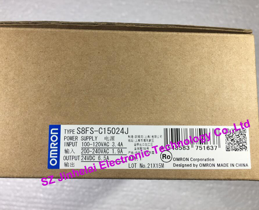 100%New and original  S8FS-C15024J  OMRON Switching power supply [zob] new original omron omron beam photoelectric switch e3jk tr12 c 2m 2pcs lot
