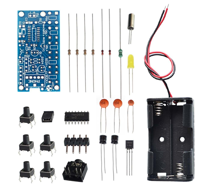 Wireless Stereo FM Radio Receiver Module PCB FM DIY Electronic Kits 76MHz-108MHz DC 1.8V-3.6V