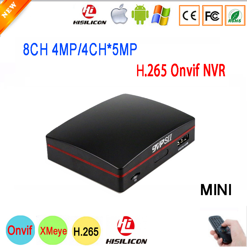 5MP/4MP/3MP/2MP/1MP IP Камера черный Hi3536D xmeye 8CH 4MP/4CH 5MP 4/8 канала H.265 наблюдения Onvif Мини NVR Бесплатная доставка