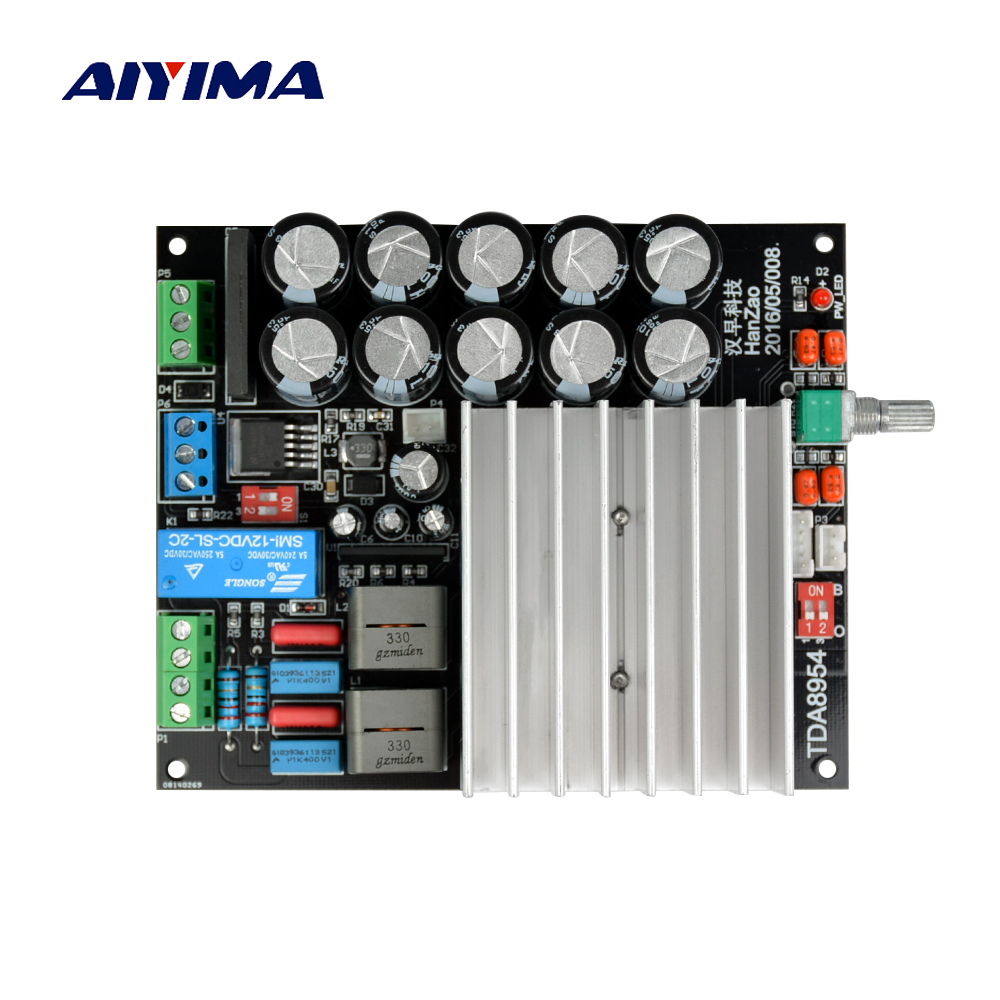Aiyima TDA8954 Digital Amplifier Board Amplificador 210W+210W Class D Fever 2.0 Dual-channel Amplifier Finished Ultra TDA8950 fever class single channel lm3886tf power amplifier board finished board can be parallel to the classic circuit