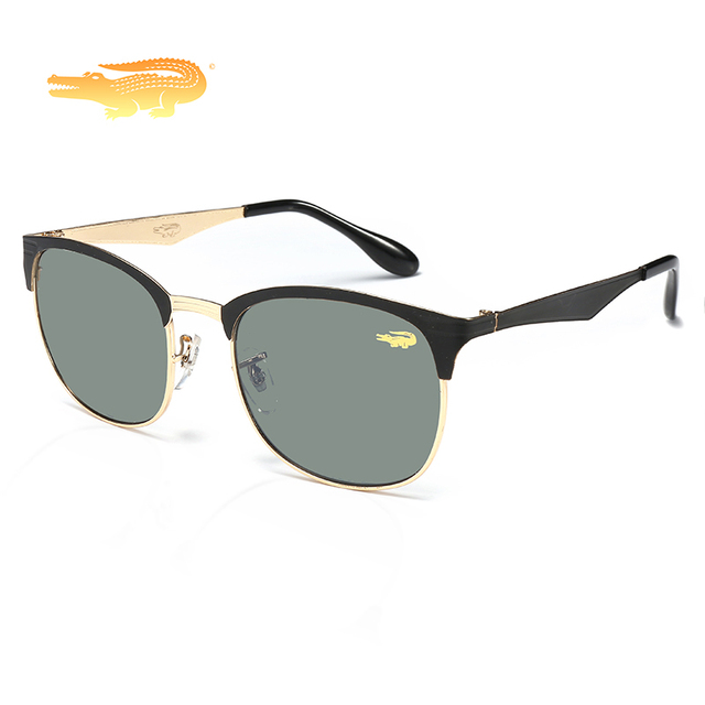 5f7f9d1f8 Krokodil 2019 العلامة التجارية النظارات الشمسية الأصلية للرجال والنساء  الفولاذ الإطار الرياضة نظارات شمسية الصيد نظارات
