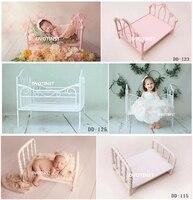 Dvotinst Newborn Photography Props Iron Posing Princess Mini Bed Poser for Baby Photo Fotografia Shoots Accessories Studio Props