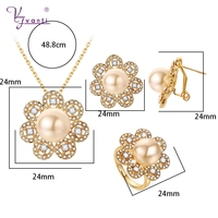 2018 New Design Jewerly Sets Flower Shape Hot Sale Imitation Pearl Sets For Women Best Sellers