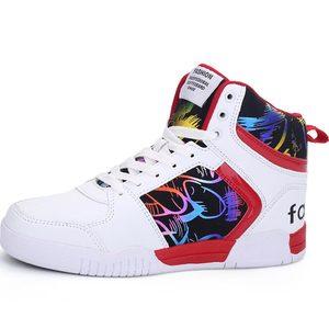 Image 5 - Высокие мужские кроссовки Hundunsnake, женские и мужские кроссовки, мужская спортивная обувь из искусственной кожи, спортивные красные спортивные кроссовки для спортзала, 2019 A 080