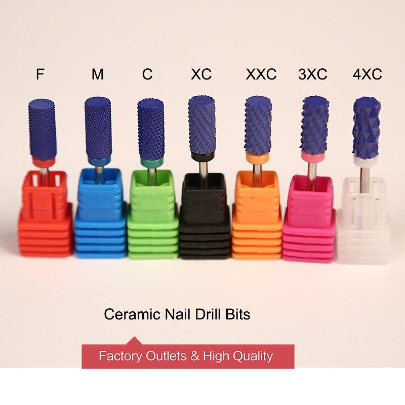 """Ceramic Nozzle Nail Art Drill Bit Mill Cutter 3/32"""" Rotary Burr Cutter Bits"""