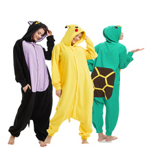 Soft Animal Kigurumi For Adult Onesie Pokemon Bodysuit Women Halloween Cosplay Carnival Men Jumpsuit Sleepwear Pajamas