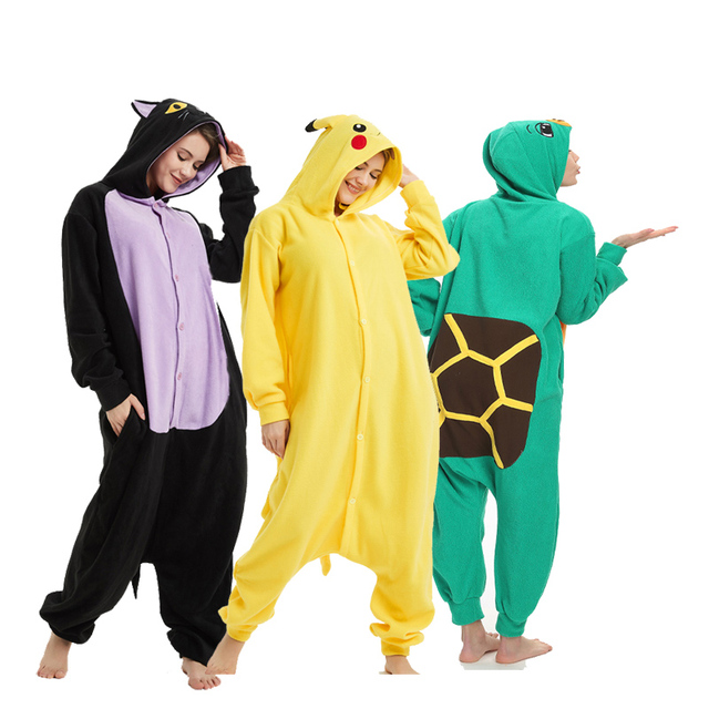 f5ed55b4bfc Soft Animal Kigurumi For Adult Onesie Pokemon Bodysuit Women Halloween Cosplay  Carnival Men Jumpsuit Sleepwear Pajamas