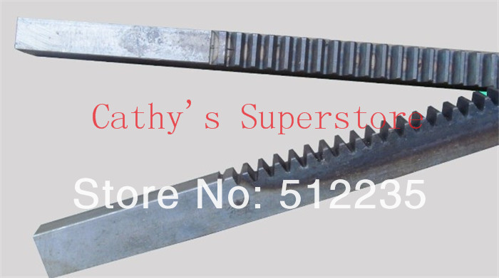 CNC Rack Gear Mod 2.5 45# Steel Spur Gear 25x28 Length in 1000mm gear rack cnc rack gear mod 2 5 right teeth 25x28 x1000mm spur gear precision machinery industry 45 steel toothed frequency hardening