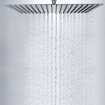 "Free Shipping BAKALA 40cm*40cm Square Rainfall Shower 16""inch Stainless Steel Shower Head Rain Shower Heads With 35cm Shower Arm"