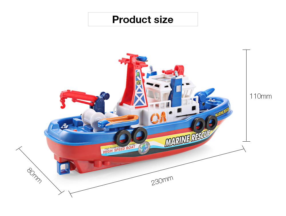 Electric Boat Children Marine Rescue Toys Boat Fire Boat Children Electric Toy (4)
