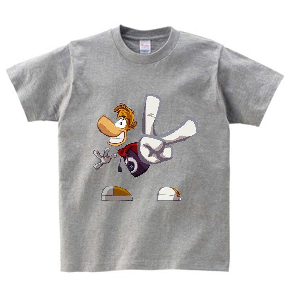 Boys and Girls Cartoon T shirt Rayman Legends Adventures Game Print T-shirt children Funny Clothes Kids Multi-color t shirt  NN 5