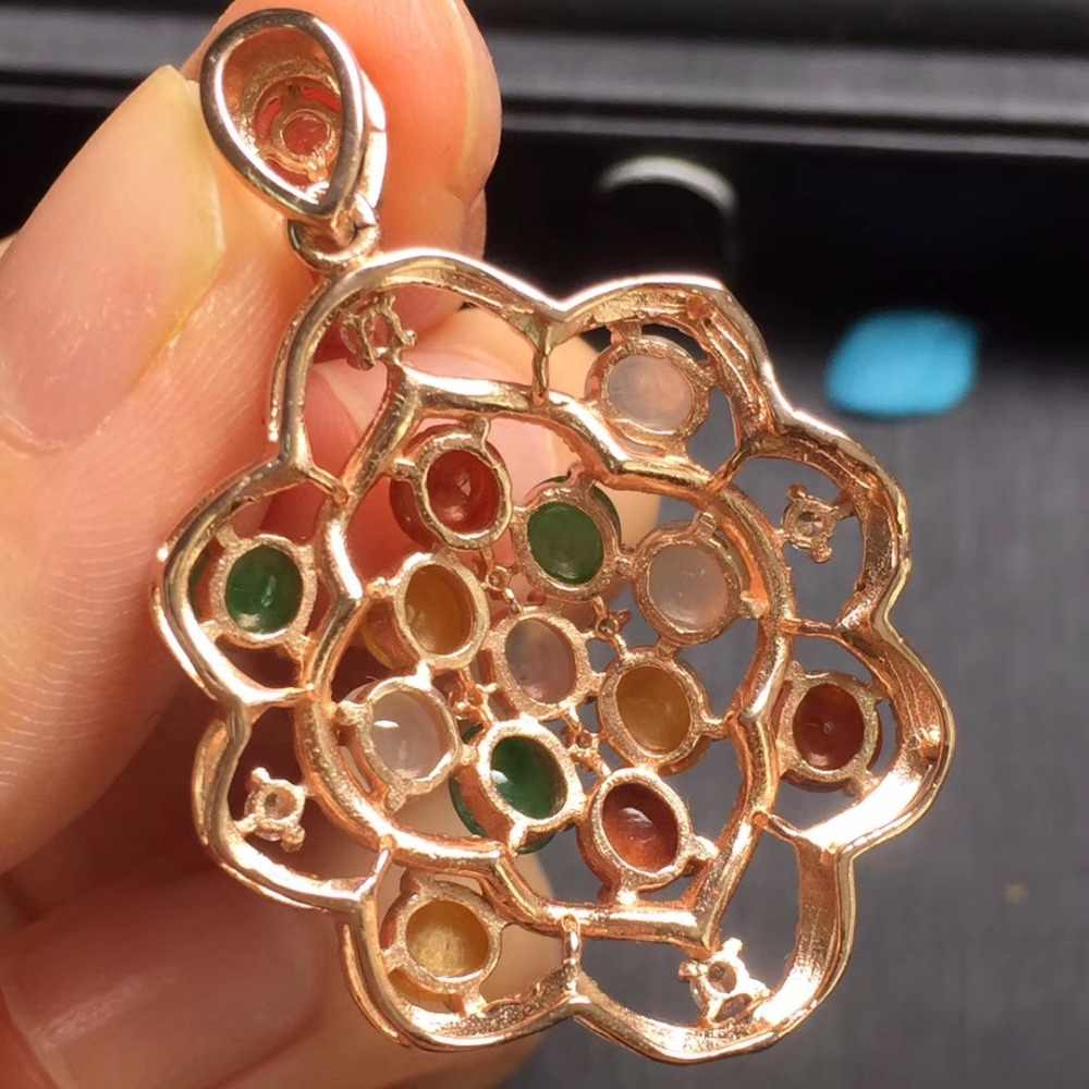 Fine Jewelry Real 925 Steling Prata s925 Myanmer Origem 100% Natural Jade Gemstone Pingente Colares Presente de Natal do Sexo Feminino